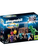Playmobil guerrier Alien avec piège T-Rex 9006