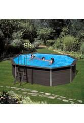 Pool Holz Gre Composite Pool 804x386x124 cm.