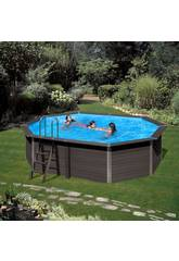 Schwimmbecken Holz Gre Composite Pool 664x386x124 cm.