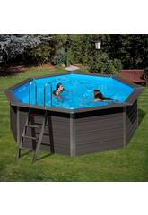 Piscina Madera Gre Composite Pool 410x124 cm.
