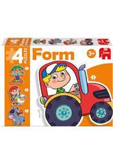 Puzzle Infantil Educativo Form Fattoria Baby