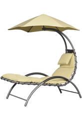 Transat Suspendu Nest Lounge-Couleur Sable