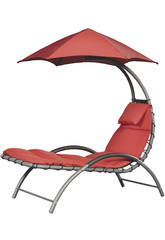 Transat Suspendu Nest Lounge-Couleur Rouge