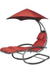 Tumbona Suspendida Nest Swing- Color Rojo Poolstar GD-NESTSW-RG