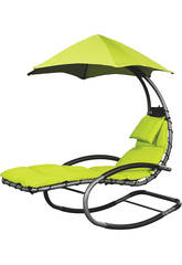 Tumbona Suspendida Nest Swing- Color Verde Poolstar GD-NESTSW-VE