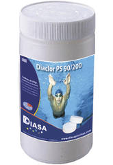 Chlore Dissolution Lente 90% Galets 200gr. Pot 1Kg