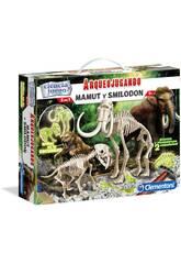 Arqueojugando Smilodonte e Mammut Fosforescente