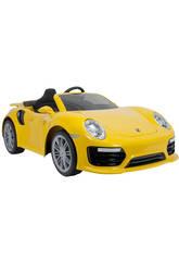 Auto Batteria Porsche 911 Turbo S 6v. giallo Injusa 7182