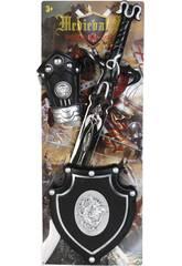 Set Caballero del Dragon Plateado con Espada, Escudo y Brazalete