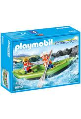 Playmobile Enfants avec Radeau Pneumatique