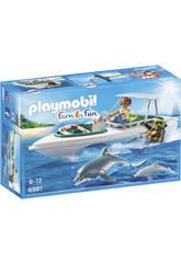 Playmobil Sub con motoscafo e delfini 6981