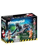 Playmobil Venkman, Dana y Perros de Gozer Ghostbusters 9223