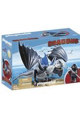 Playmobil Dragons Drago avec son Dragon de Combat 9248