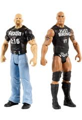 WWE Pack 2 figure Tough Talkers 15 cm