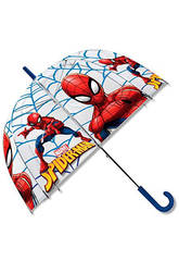 Spiderman Paraguas Manual Transparente Campana 48 cm. Kids Euroswan MV15283
