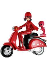 Figura Ladybug con Moto 14cm Bandai 39880