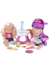 Nenuco Puppe Die Geschwister beim Friseur 32 cn Famosa 700013674