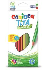 Box 12 Bleistifte Tita Triangular Carioca 42786