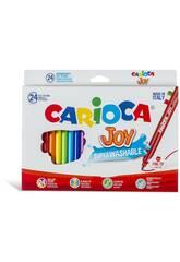 Carioca 40615 Joy Confezione 24 Pennarelli