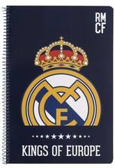 Cahier Couvertures Rigides 80 feuilles Real Madrid Safta 511724066