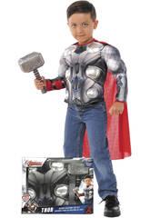 Kostüm Thor Brust mit Hammer von Rubies 34104