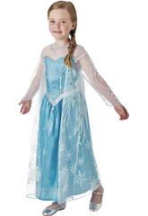 Déguisement Fille La Reine des Neiges Elsa Deluxe T-S Rubies 630574-S