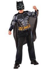Déguisement Enfant Batman blindé avec Masque et Torse Musclé  (112-122 cm)