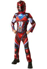 Déguisement Enfant Ranger Rouge Movie Deluxe T-M Rubies 630711-M