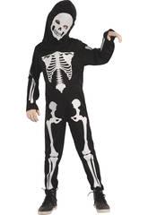 Déguisement Garçon Taille S Squelette