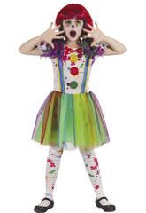 Costume Ragazza Pagliaccio Sanguinante XL