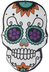 Catrina Giorno dei Morti con Luci 48x32x2 cm