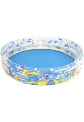 Piscine Gonflable de 3 boudins Aquarium 152x30 cm. Bestway 51004