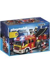 Playmobil Camion de Pompiers avec Lumières et Sirène