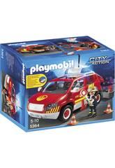Playmobil Voiture Chef de Pompiers avec Lumières