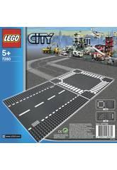 Lego City Plaques de route - Ligne droite et carrefour