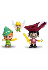 Pin et Pon, Peter Pan, Capitaine Crochet et Fée clochette