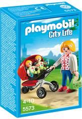 Playmobil Mama con Carrito de Gemelos 5573