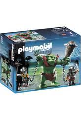 Gigante de Troll Playmobil com Lutadores