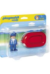 Playmobil 1.2.3 Homme avec Radeau