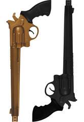 2 revolvers de 36 cm. Or et Noir