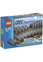 Lego City Rails flexibles et droits