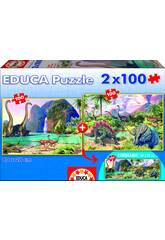 Puzzle Junior 2 x 100 Dino World