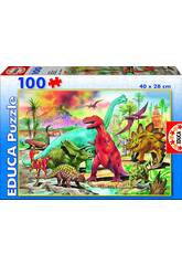 Puzzle 100 Dinosaures