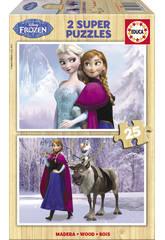 Puzzle 2X25 Frozen Educa 16162