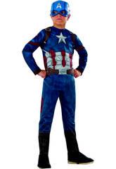 Déguisement Enfant Capitaine América Classique T-M