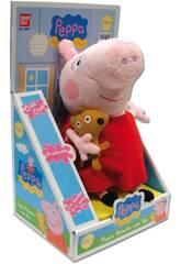 Peluche con Voz Peppa Pig 24cm Bandai 84255