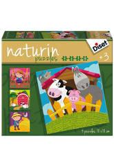 Puzzle Pour Enfant Naturin Ferme Diset 69958