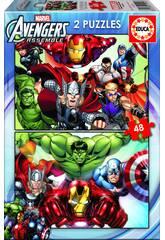 Puzzle 2X48 Avengers Educa 15932