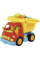Camião Basculante de Brinquedo com Acessórios Praia