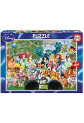 Puzzle 1000 O Maravilhoso Mundo de Disney II Educa 16297
